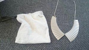 COS Kette Halskette Collier Bubikragen Statement Kragen Silber