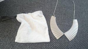 COS Kette Halskette Collier Statementkette Statement Kragen Silber