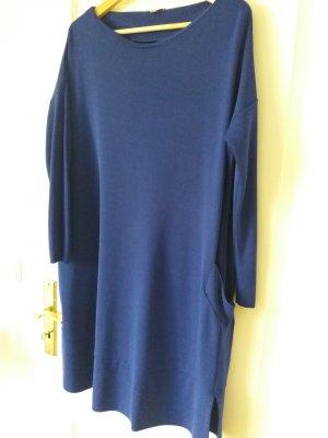 COS Vestido de tela de sudadera azul tejido mezclado