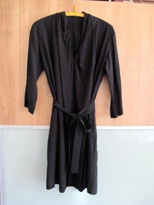 COS Robe trapèze noir viscose