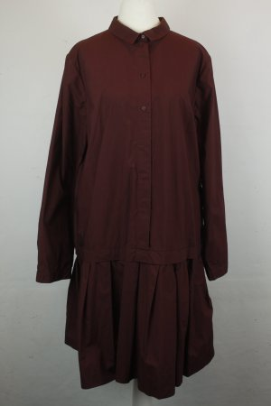 COS Kleid Blusenkleid Gr. 44 bordeaux rot