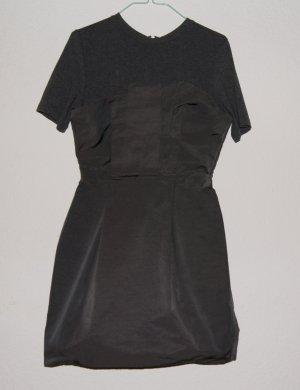 COS Kleid Corsage Grau minimalistisch XS 34 36
