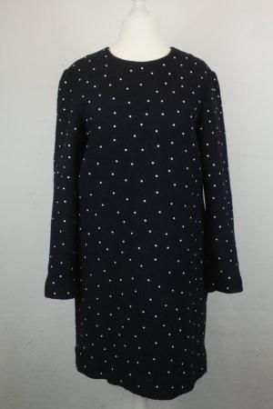 COS Longsleeve Dress dark blue-white mixture fibre