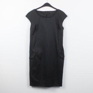 COS Kleid Gr. 38 schwarz leicht glänzend Taschen (18/11/150)