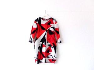 COS Kleid Gr. L 40 42 rot weiß schwarz muster pattern