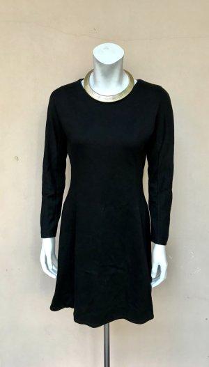 COS Kleid Gr. M / 38 Skaterkleid schwarz Langarm A-Linie Minikleid schlicht Business