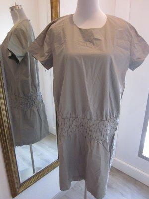 COS Kleid Grau Gr 42   schlicht & ausgefallen Kurzarm