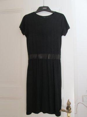 Cos Kleid Jersey und Leder schwarz Gr. S