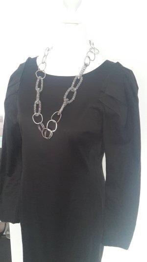 Cos-Kleid mit hohem Seidenanteil, schwarz