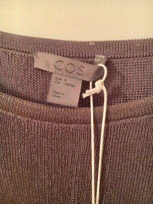 COS Kleid neu und ungetragen, lang, silber/bronze, Größe M