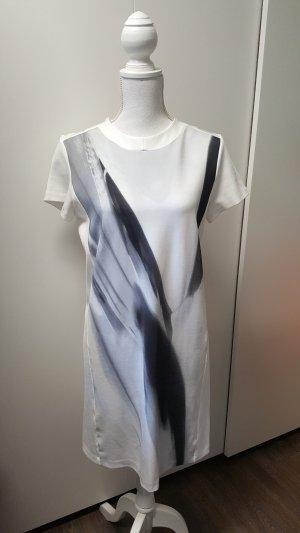COS Kleid S/36 Weiß Schwarz abstrakt skandinavisch minimalistisch