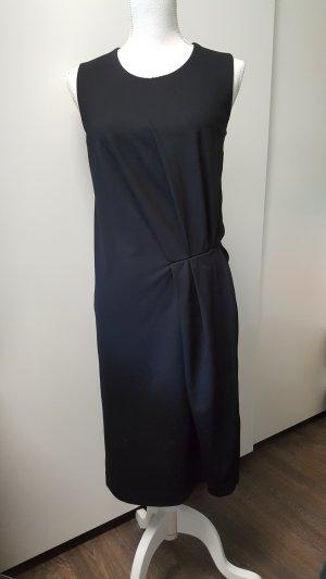 COS Kleid S schwarz Raffung Knoten ärmellos elegant