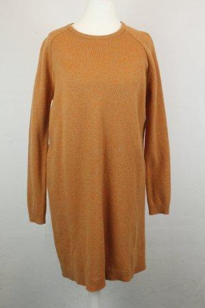 COS Woolen Dress orange wool