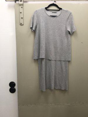 COS Kleid Sweatkleid Jerseykleid grau Gr. S