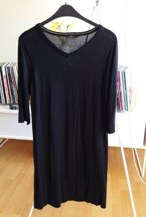 COS Kleid top L 42 schwarz SEIDE 40 3/4Arm knielang Sommer Frühlig