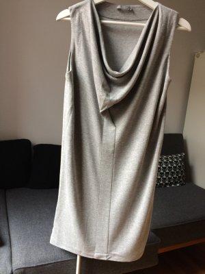 COS Kleid Wasserfall Kragen Grau Viskose Gr. S