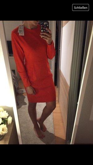 COS Knielang Kleid / orange