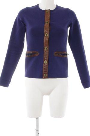 COS Kurz-Blazer hellbraun-dunkelviolett Elegant