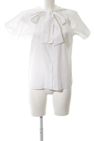 COS Short Sleeved Blouse white elegant
