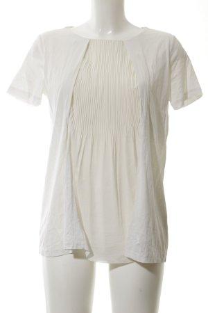 COS Kurzarm-Bluse creme klassischer Stil