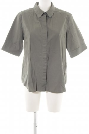 COS Short Sleeved Blouse light grey simple style