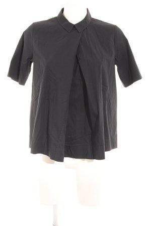 COS Kurzarm-Bluse dunkelblau Elegant