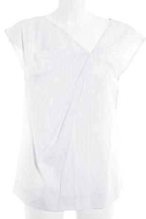 COS Kurzarm-Bluse hellgrau Elegant