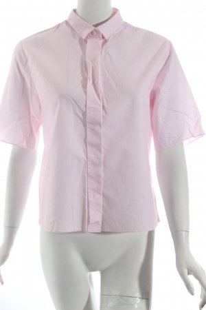COS Kurzarm-Bluse hellrosa-weiß schlichter Stil