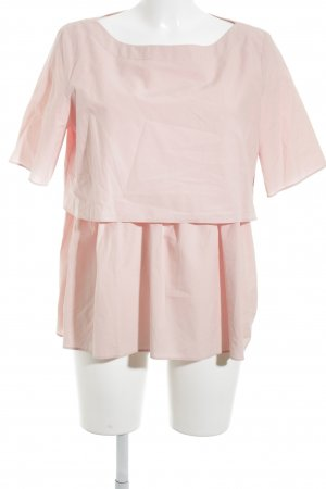 COS Kurzarm-Bluse rosa Elegant