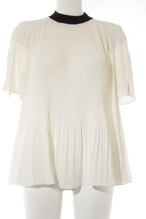 COS Short Sleeved Blouse black-cream elegant