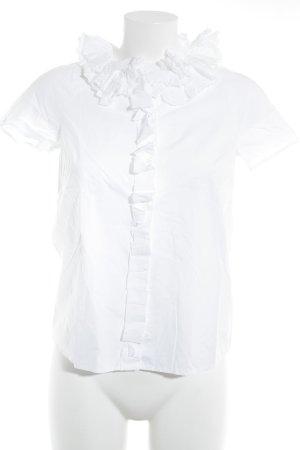COS Kurzarm-Bluse weiß Elegant