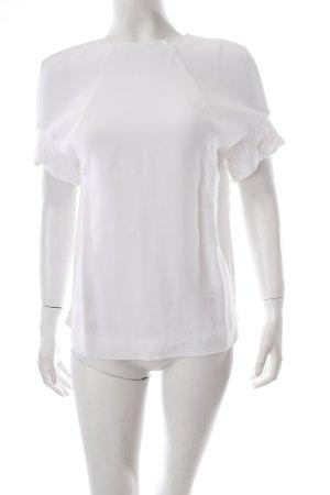 COS Kurzarm-Bluse weiß klassischer Stil