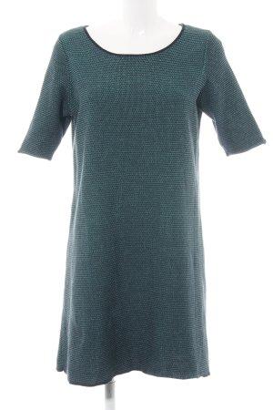 COS Kurzarmkleid grün Webmuster schlichter Stil