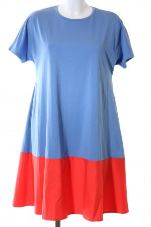 COS Shortsleeve Dress blue-red flecked business style
