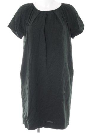 COS Kurzarmkleid dunkelgrün Casual-Look