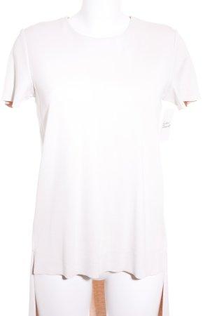 COS Kurzarmkleid wollweiß-beige schlichter Stil