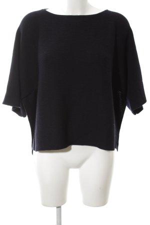 COS Sweater met korte mouwen blauw casual uitstraling
