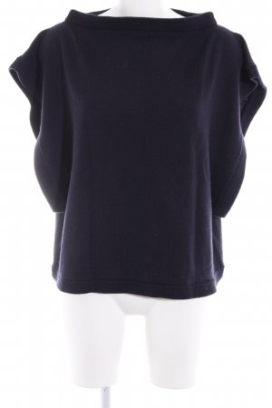 COS Jersey de manga corta azul oscuro look casual