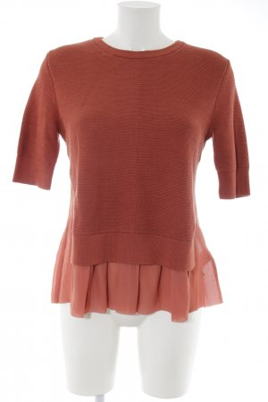 COS Short Sleeve Sweater brown weave pattern casual look