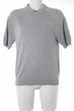 COS Short Sleeve Sweater light grey-grey casual look