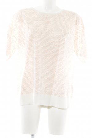 COS Short Sleeve Sweater natural white-neon orange casual look