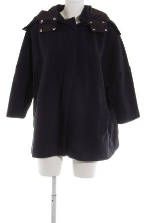 COS Abrigo corto azul oscuro-negro look casual