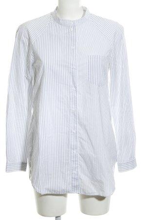 COS Langarm-Bluse weiß-blau Streifenmuster Business-Look