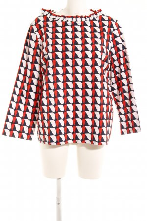 COS Long Sleeve Blouse abstract pattern elegant
