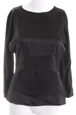 COS Long Sleeve Blouse black elegant