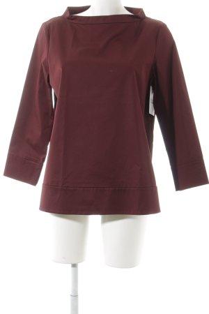 COS Langarm-Bluse bordeauxrot Elegant