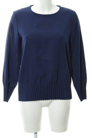 COS Langarm-Bluse dunkelblau Casual-Look