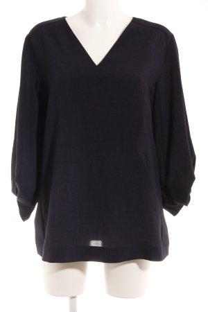 COS Langarm-Bluse dunkelblau Elegant