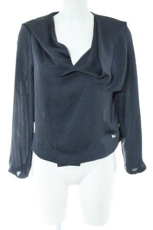COS Long Sleeve Blouse blue elegant
