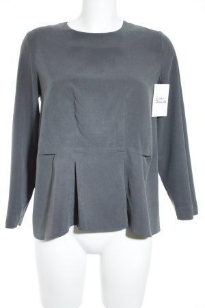 COS Langarm-Bluse grau minimalistischer Stil